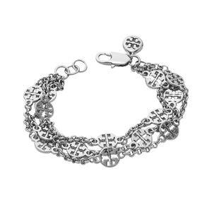 TORY BURCH • Triple Strand Logo Bracelet